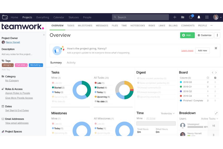 Project Management Tool - Teamwork